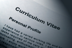 This photo shows a CV. By using this advice a job seeker can create a very successful CV